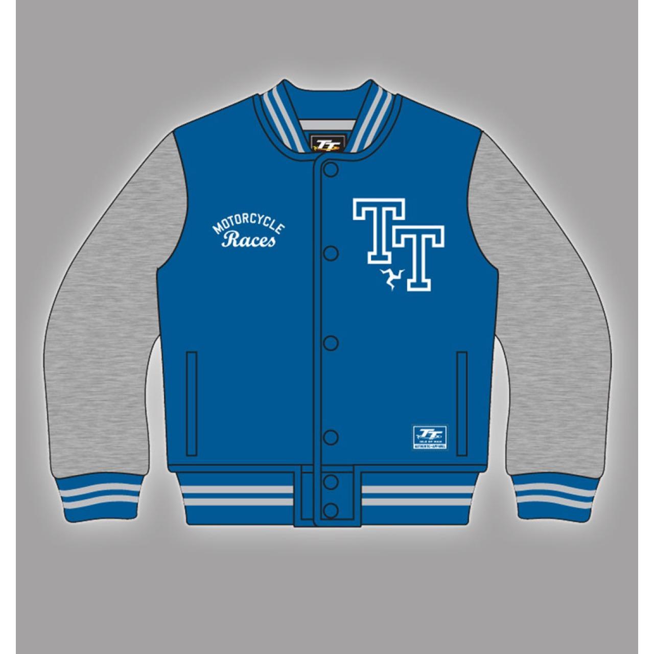 Official Isle of Man TT Kids Blue Baseball Jacket 14ZKBBJ1 ...