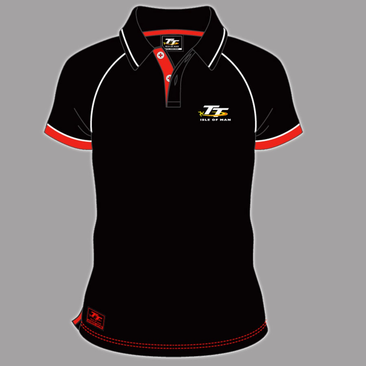 TT POLO SHIRT BLACK WITH RED TRIM 16AP2 | TT POLO SHIRTS | TT ...