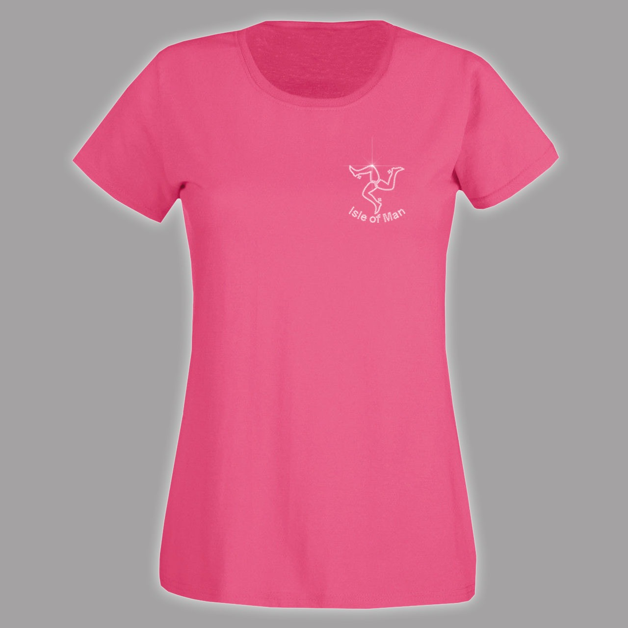 Hot pink ladies fitted t shirt mldt 240 diamante for Pink ladies tee shirts