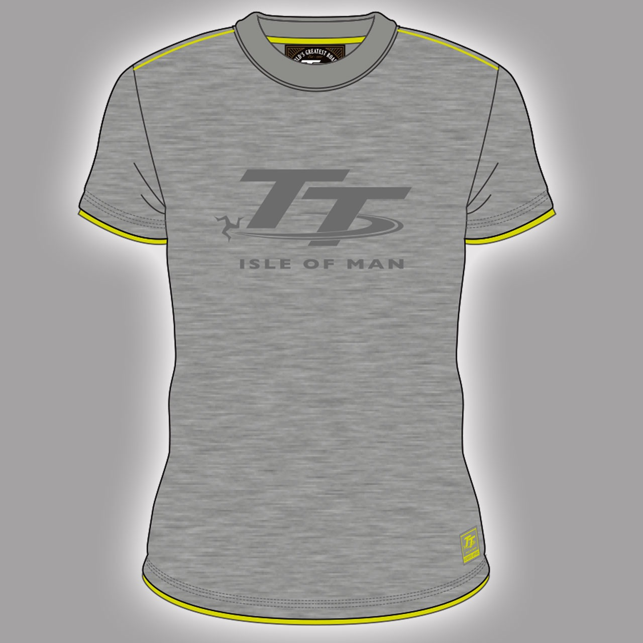 Deluxe tt logo grey t shirt 17acts4 deluxe soft feel for Soft custom t shirts
