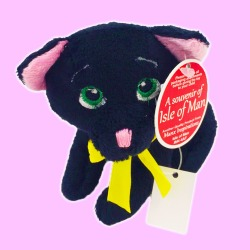 kitten Cuddly Toy Isle of Man Grey Manx cat