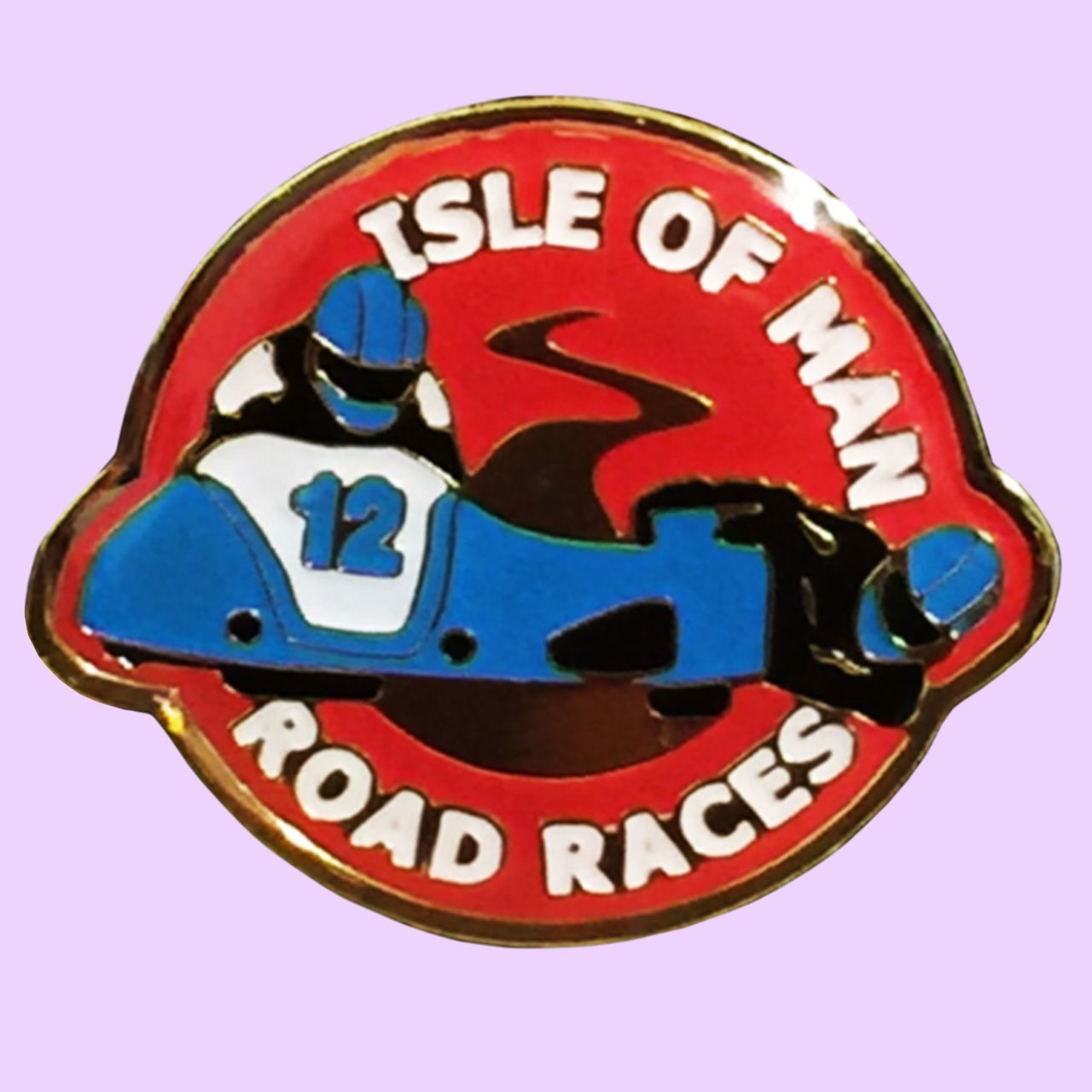 3 Wheeling Official Pin Badge 3 Wheeling Sidecar Racing Official merchandise