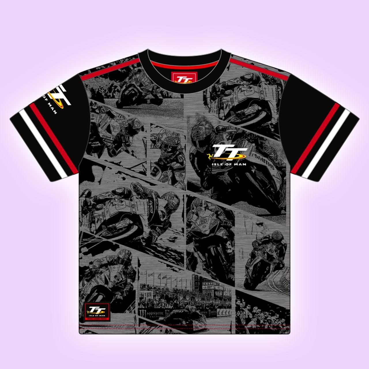 c35133a8c ALL OVER PRINT BIKE MOTIF TT KIDS T-SHIRT 18ZKAOP1 | T-SHIRTS - KIDS | TT  Shirts | Manx Shirts